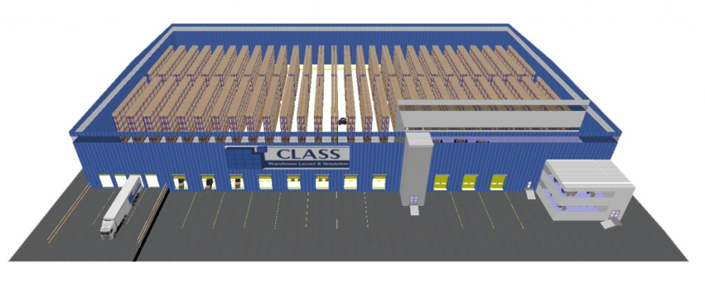 CLASS Warehouse Layout & Simulation Modell - SimPlan AG