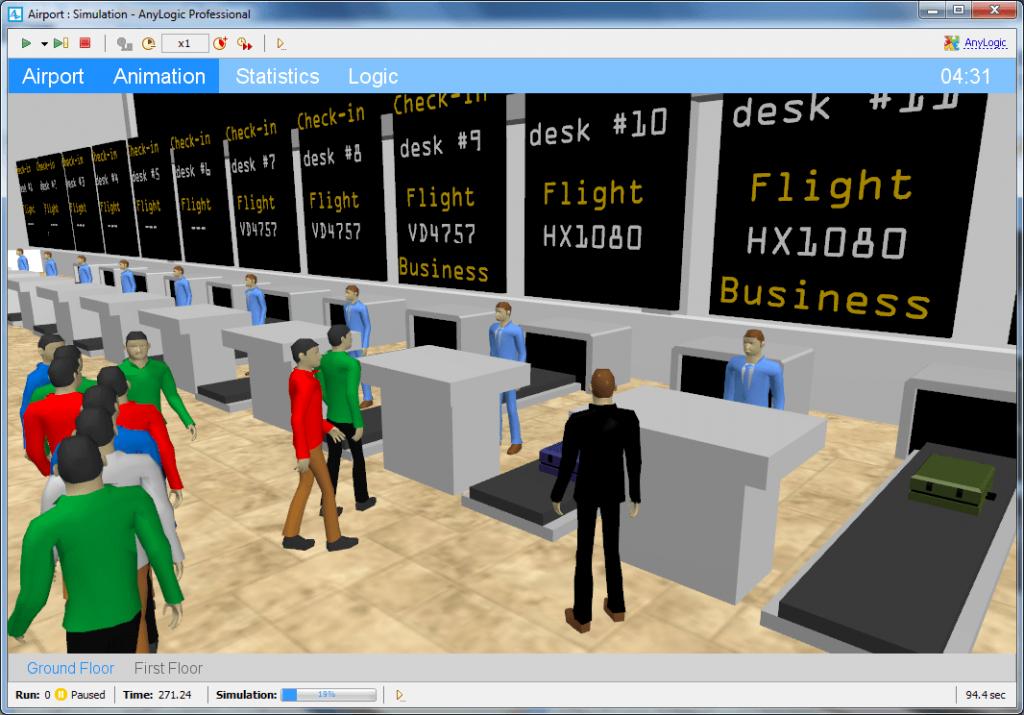 Personenstromsimulation AnyLogic - SimPlan AG