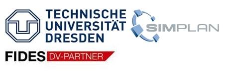 Logos TU Dresden - Fides - SimPlan - SimPlan AG