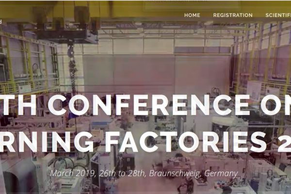 9th Conference on Learning Factories 2019 - SimPlan AG