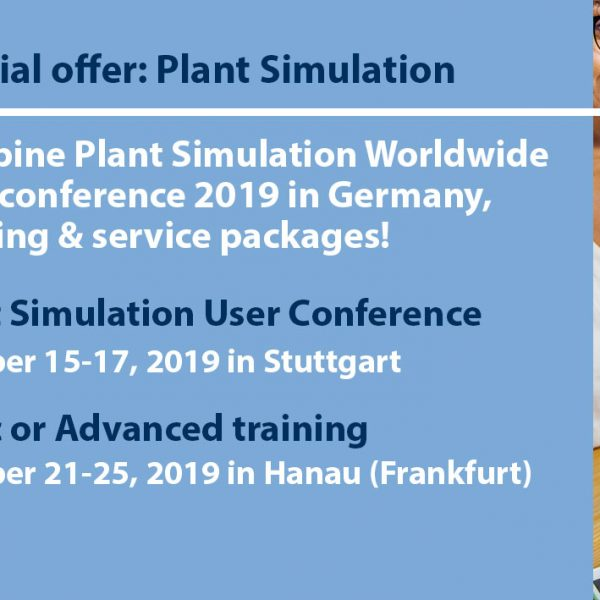 Special offer: Plant Simulation training and International User Conference