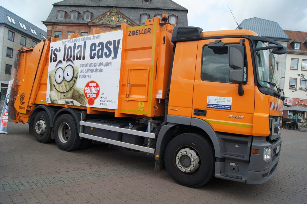 Müllwagen Stadt Hanau SimCityNet - SimPlan AG