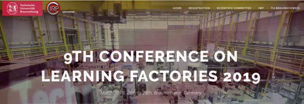 9th Conference on Learning Factories 2019