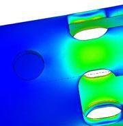Kennametal Extrude Hone optimiert die Konstruktion einer Spreizkathode mit Finite Element Analyse